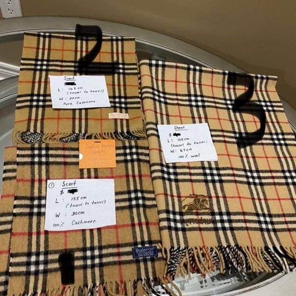 Burberry scarf each